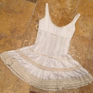Free People old fashioned corset style cottonshift
